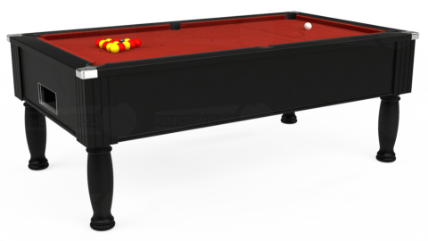 7ft Monarch Free Play in Black with Hainsworth Elite-Pro Red cloth