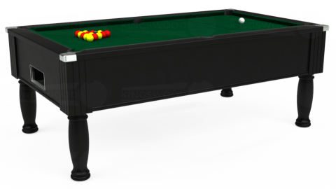 7ft Monarch Free Play in Black with Hainsworth Elite-Pro Spruce cloth