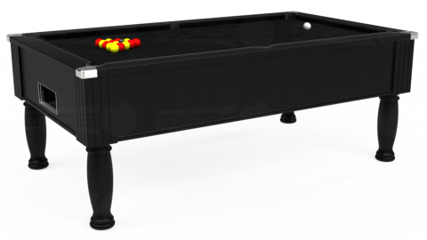 7ft Monarch Free Play in Black with Hainsworth Smart Black cloth