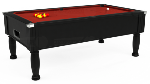 7ft Monarch Free Play in Black with Hainsworth Smart Cherry cloth