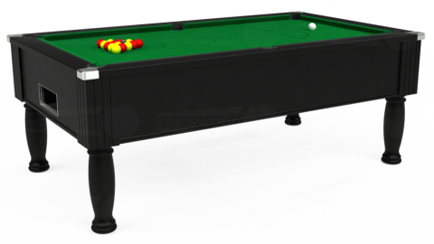 7ft Monarch Free Play in Black with Hainsworth Smart Olive cloth