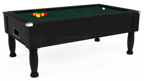 7ft Monarch Free Play in Black with Hainsworth Smart Ranger Green cloth