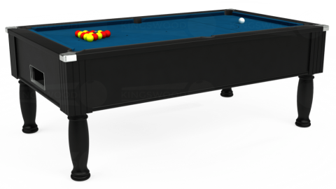 7ft Monarch Free Play in Black with Hainsworth Smart Slate cloth