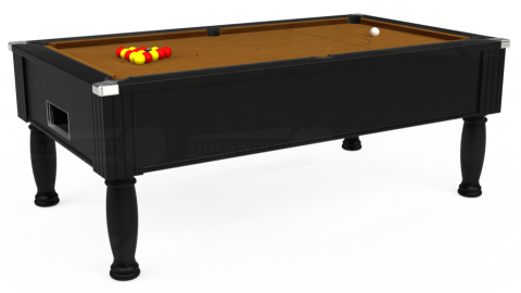 7ft Monarch Free Play in Black with Hainsworth Smart Tan cloth