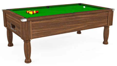 6ft Monarch Free Play in Dark Walnut with Standard Green cloth