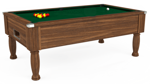 7ft Monarch Free Play in Dark Walnut with Hainsworth Elite-Pro Spruce cloth