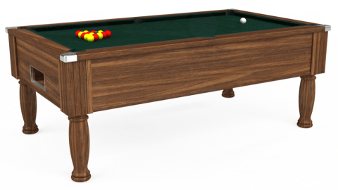 7ft Monarch Free Play in Dark Walnut with Hainsworth Smart Ranger Green cloth
