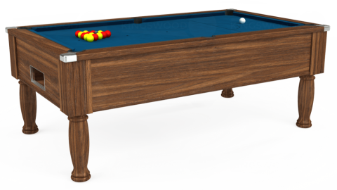 7ft Monarch Free Play in Dark Walnut with Hainsworth Smart Slate cloth