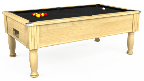 7ft Monarch Free Play in Light Oak with Hainsworth Elite-Pro Black cloth