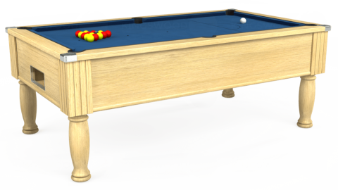 7ft Monarch Free Play in Light Oak with Hainsworth Elite-Pro Cadet Blue cloth
