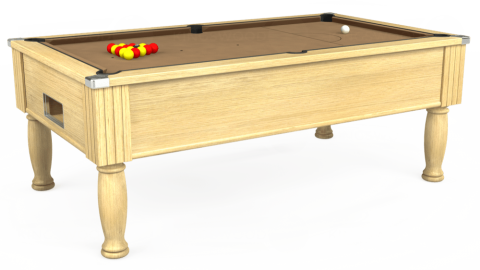 7ft Monarch Free Play in Light Oak with Hainsworth Elite-Pro Camel cloth