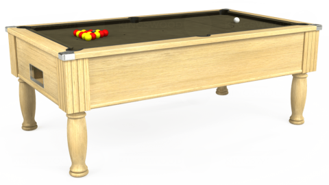 6ft Monarch Free Play in Light Oak with Hainsworth Elite-Pro Olive cloth