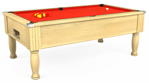 7ft Monarch Free Play in Light Oak with Hainsworth Elite-Pro Orange cloth