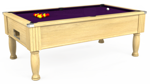 7ft Monarch Free Play in Light Oak with Hainsworth Elite-Pro Purple cloth
