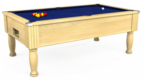 6ft Monarch Free Play in Light Oak with Hainsworth Elite-Pro Royal Blue cloth