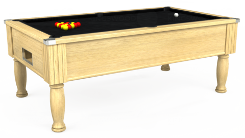 6ft Monarch Free Play in Light Oak with Hainsworth Smart Black cloth