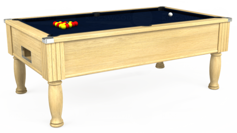 7ft Monarch Free Play in Light Oak with Hainsworth Smart French Navy cloth