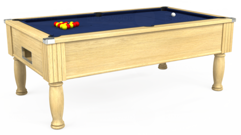 6ft Monarch Free Play in Light Oak with Hainsworth Smart Royal Navy cloth