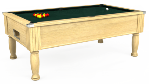 7ft Monarch Free Play in Light Oak with Hainsworth Smart Ranger Green cloth