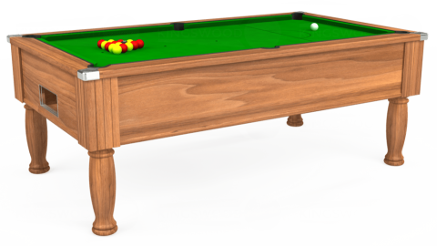 6ft Monarch Free Play in Light Walnut with Standard Green cloth