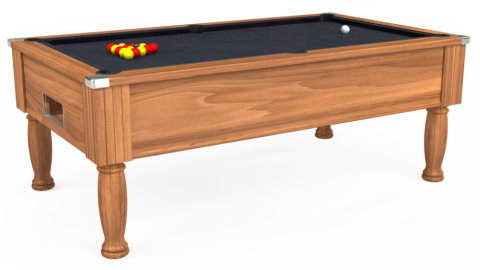 7ft Monarch Free Play in Light Walnut with Hainsworth Elite-Pro Charcoal cloth
