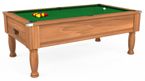 7ft Monarch Free Play in Light Walnut with Hainsworth Elite-Pro English Green cloth