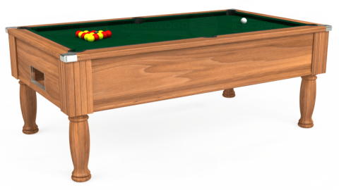 7ft Monarch Free Play in Light Walnut with Hainsworth Elite-Pro Spruce cloth