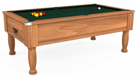 7ft Monarch Free Play in Light Walnut with Hainsworth Smart Ranger Green cloth