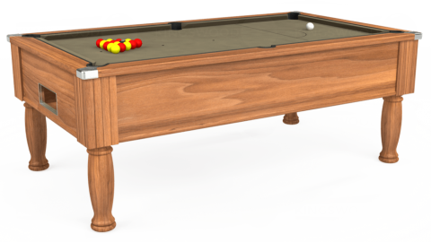 7ft Monarch Free Play in Light Walnut with Hainsworth Smart Taupe cloth