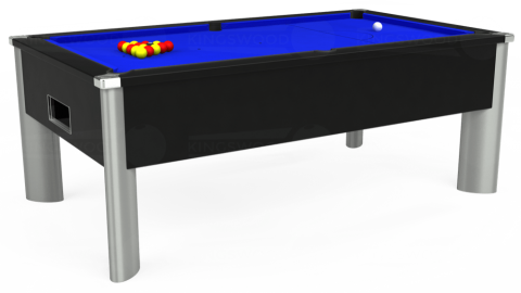 7ft Monarch Fusion Free Play in Black with Standard Blue cloth