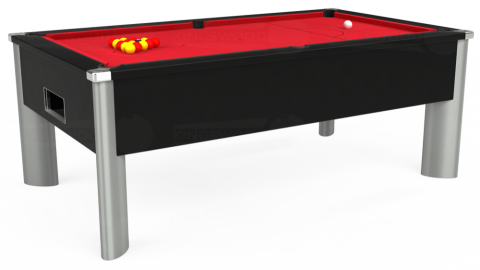 7ft Monarch Fusion Free Play in Black with Standard Red cloth