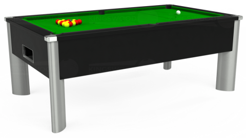 7ft Monarch Fusion Free Play in Black with Standard Green cloth