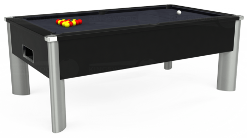 7ft Monarch Fusion Free Play in Black with Hainsworth Elite-Pro Charcoal cloth