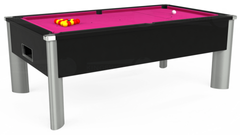 7ft Monarch Fusion Free Play in Black with Hainsworth Elite-Pro Fuchsia cloth