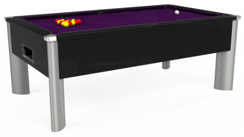 7ft Monarch Fusion Free Play in Black with Hainsworth Elite-Pro Purple cloth