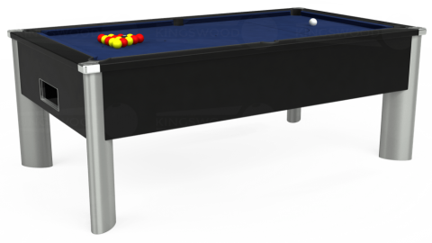 7ft Monarch Fusion Free Play in Black with Hainsworth Smart Royal Navy cloth