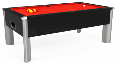 7ft Monarch Fusion Free Play in Black with Hainsworth Smart Orange cloth