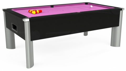 7ft Monarch Fusion Free Play in Black with Hainsworth Smart Pink cloth