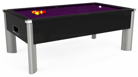 6ft Monarch Fusion Free Play in Black with Hainsworth Smart Purple cloth