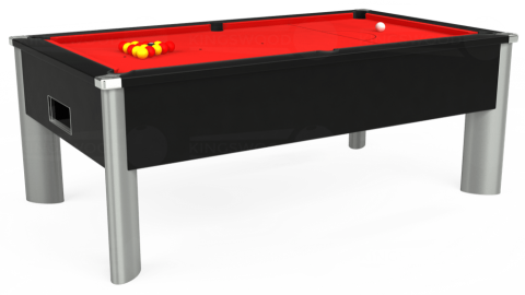 7ft Monarch Fusion Free Play in Black with Hainsworth Smart Red cloth