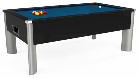 7ft Monarch Fusion Free Play in Black with Hainsworth Smart Slate cloth
