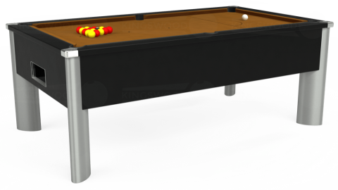 7ft Monarch Fusion Free Play in Black with Hainsworth Smart Tan cloth