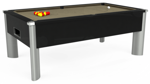 7ft Monarch Fusion Free Play in Black with Hainsworth Smart Taupe cloth