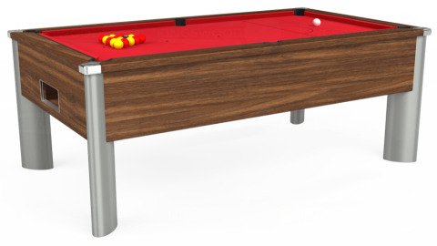 7ft Monarch Fusion Free Play in Dark Walnut with Standard Red cloth