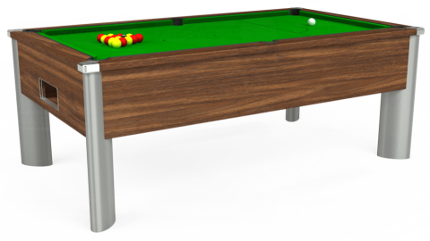 7ft Monarch Fusion Free Play in Dark Walnut with Standard Green cloth