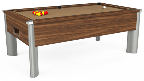 7ft Monarch Fusion Free Play in Dark Walnut with Hainsworth Elite-Pro Camel cloth