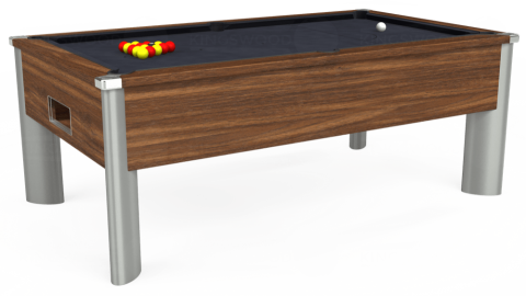 7ft Monarch Fusion Free Play in Dark Walnut with Hainsworth Elite-Pro Charcoal cloth