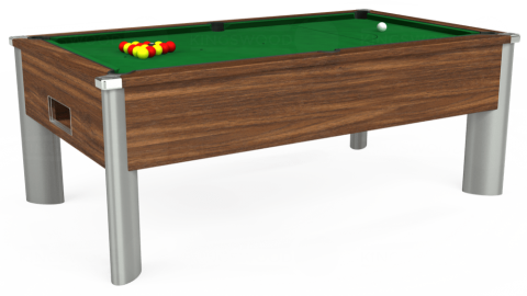 7ft Monarch Fusion Free Play in Dark Walnut with Hainsworth Elite-Pro English Green cloth