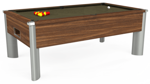 7ft Monarch Fusion Free Play in Dark Walnut with Hainsworth Elite-Pro Olive cloth
