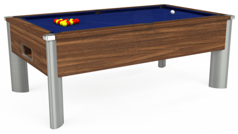 7ft Monarch Fusion Free Play in Dark Walnut with Hainsworth Elite-Pro Royal Blue cloth